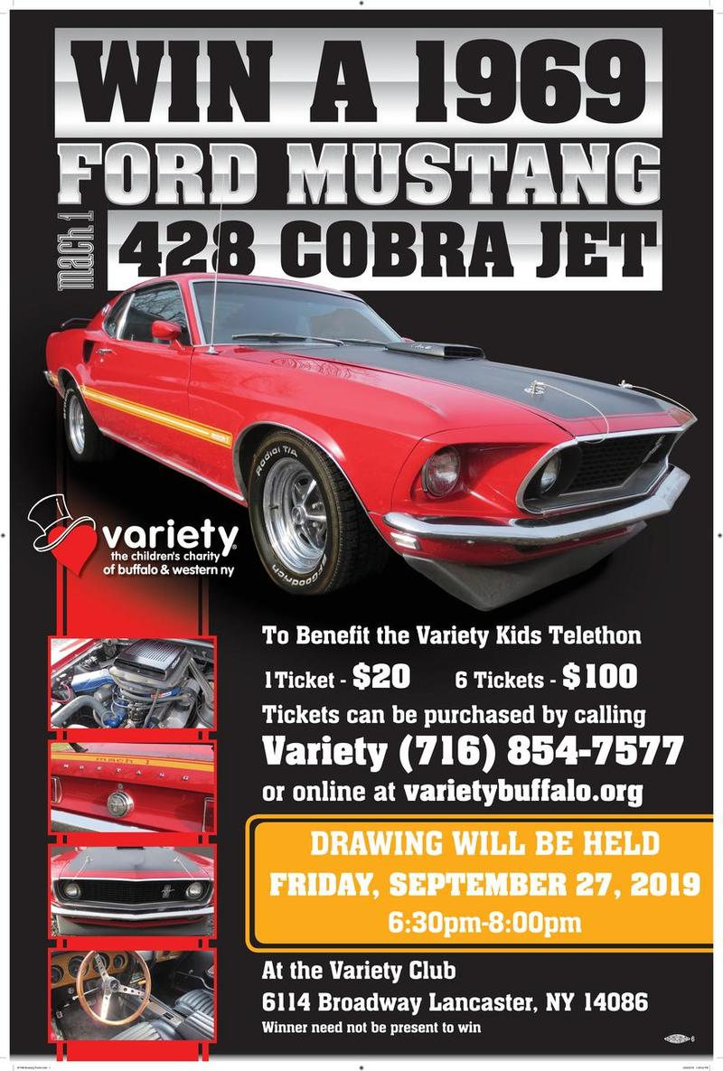1969 Ford Mustang Drawing Party