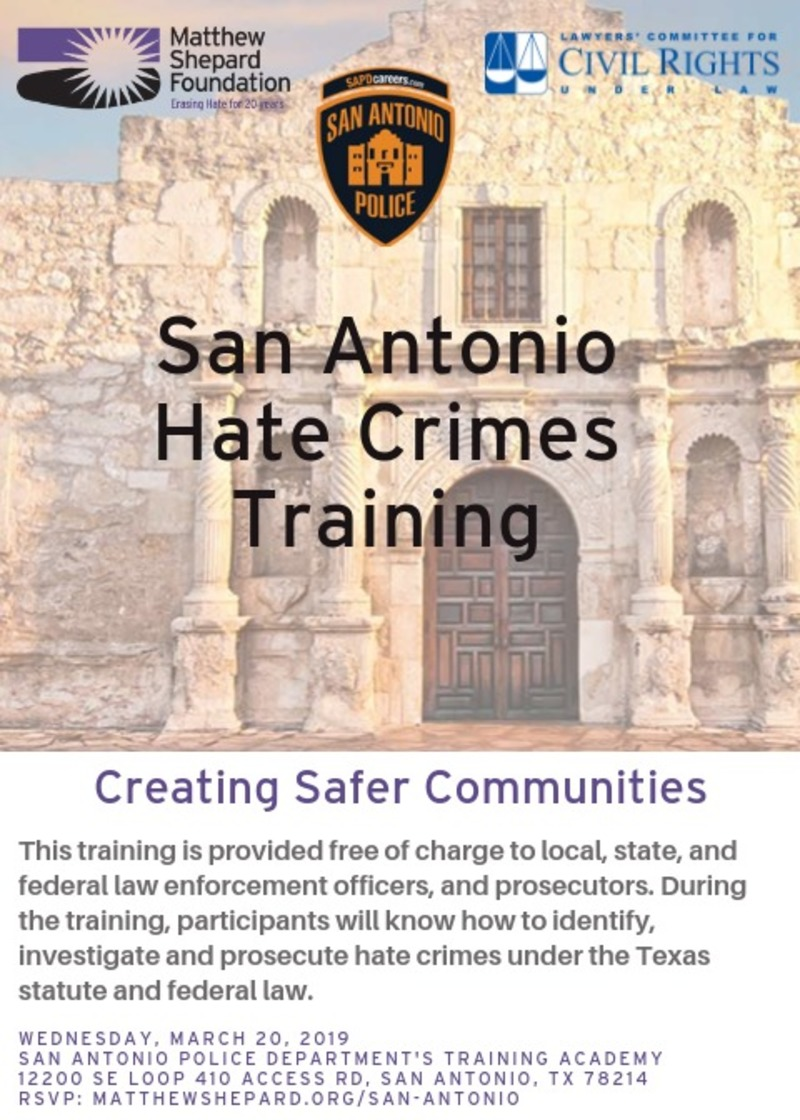 San Antonio Hate Crimes Training