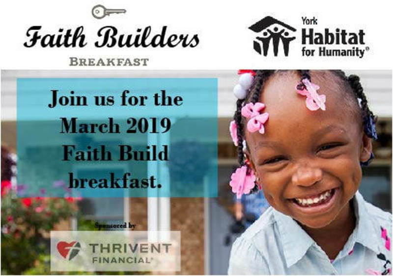 2019 Faith Build Information Breakfast