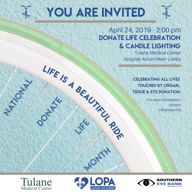 Tulane Medical Center - Donate Life Celebration & Candle Lighting