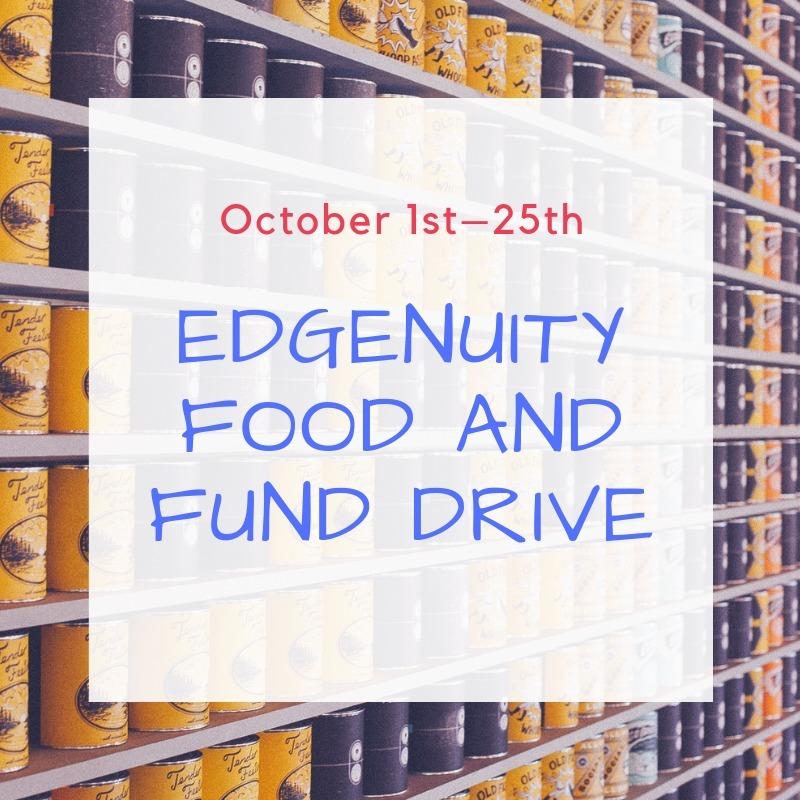 Edgenuity's Food Drive