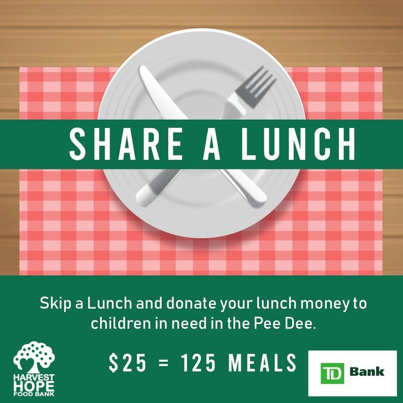 TD Bank Share a Lunch Fundraiser for Harvest Hope
