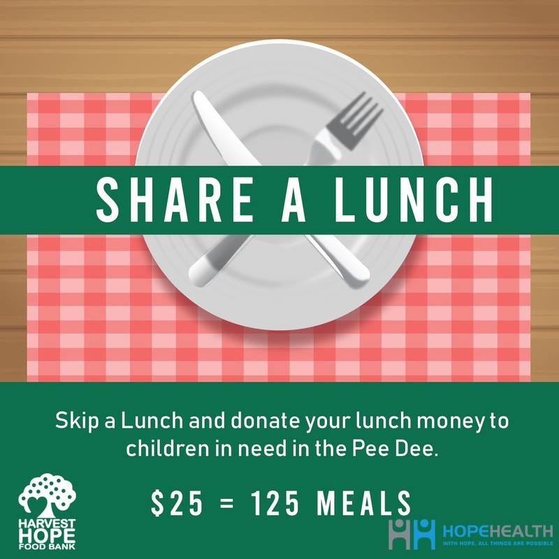 HopeHealth Share a Lunch Fundraiser for Harvest Hope Food Bank