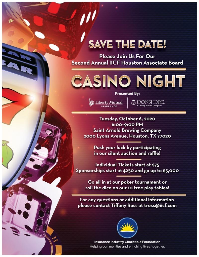 IICF Houston Associate Board 2nd Annual Casino Night