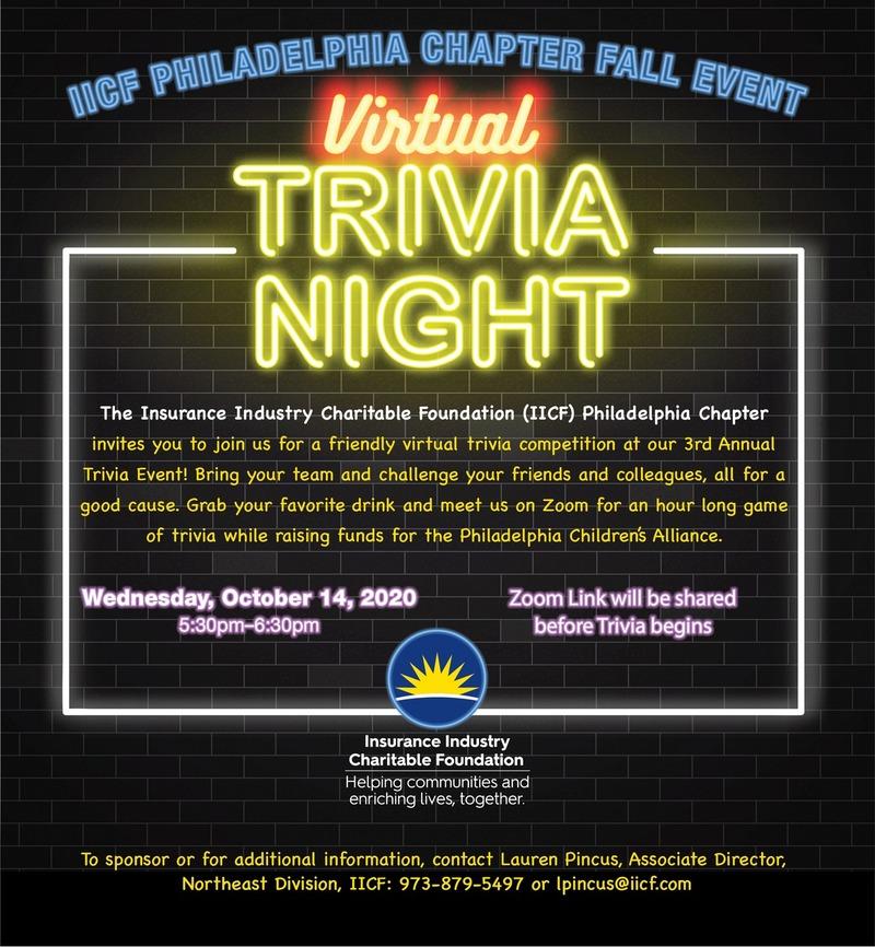 IICF Philadelphia Chapter Virtual Trivia Event