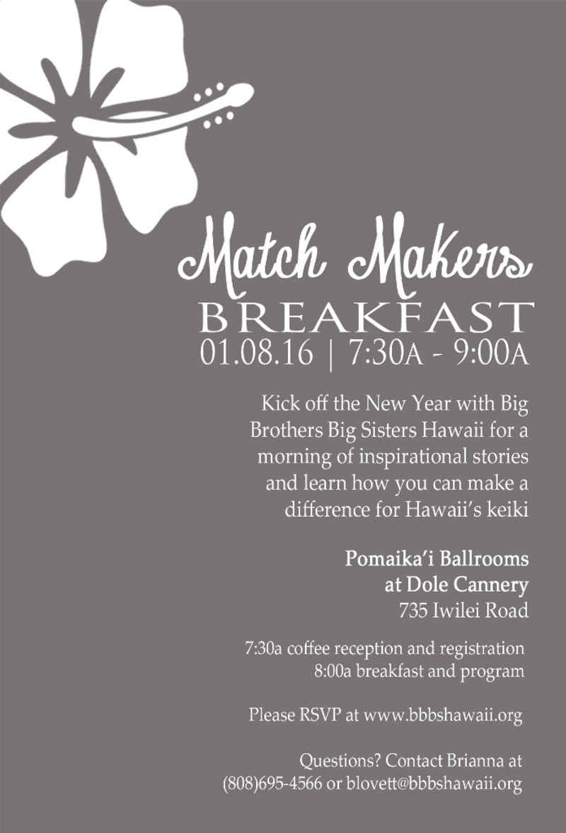 Event - Oahu Match Makers Breakfast 2016