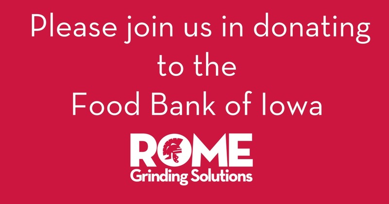 Rome Grinding Solutions- Food Bank of Iowa