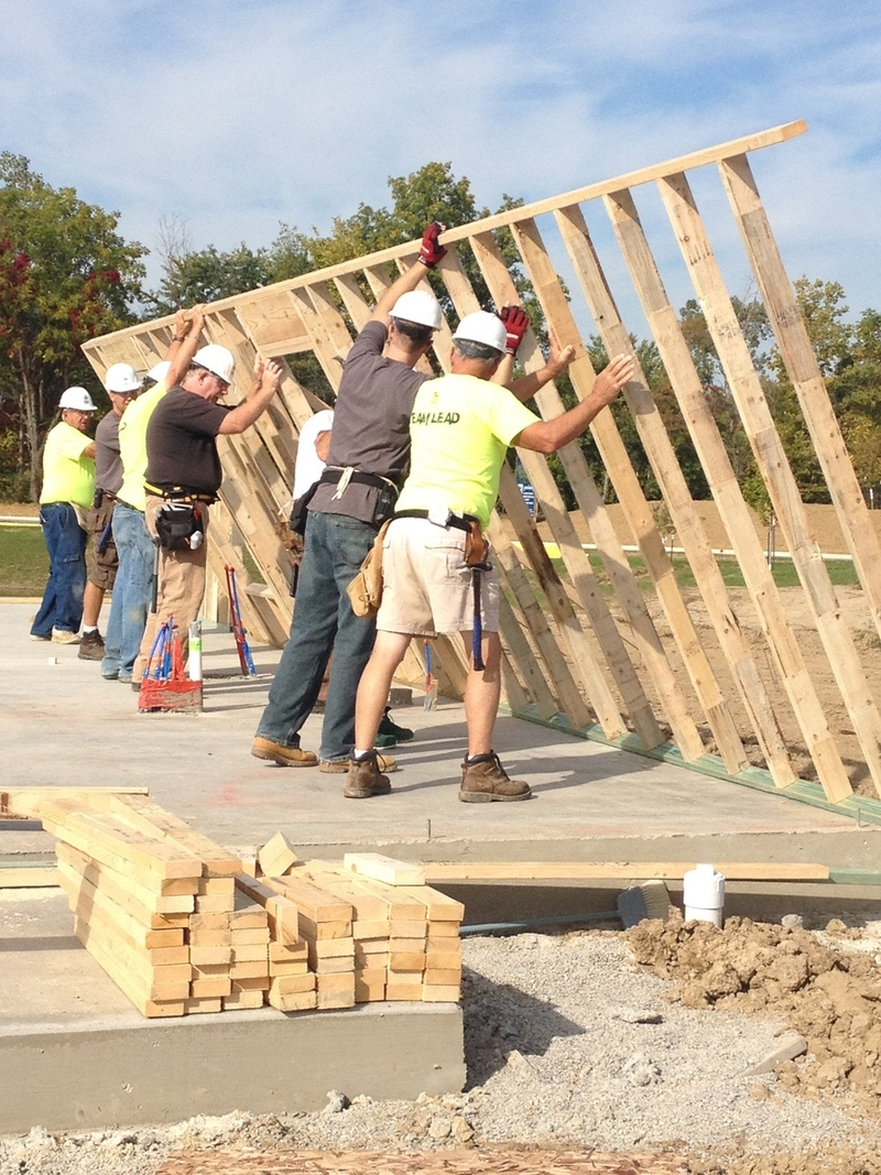 Construction at Fuller's Landing