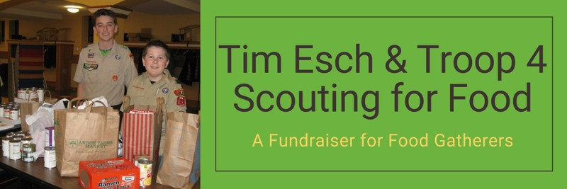 Tim Esch & Troop 4 Scouting for Food