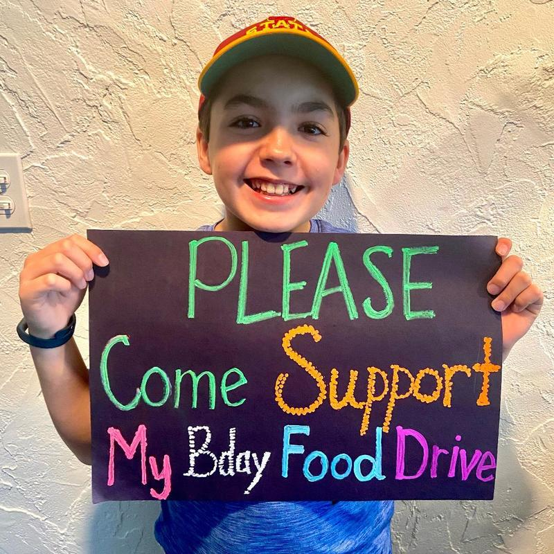 Noah's 11th Birthday Food Drive 5/2