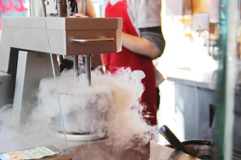 Liquid nitrogen ice cream making with Tinker Kitchen!