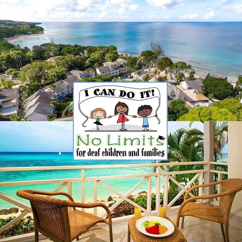 Support deaf children and WIN A TRIP TO BARBADOS