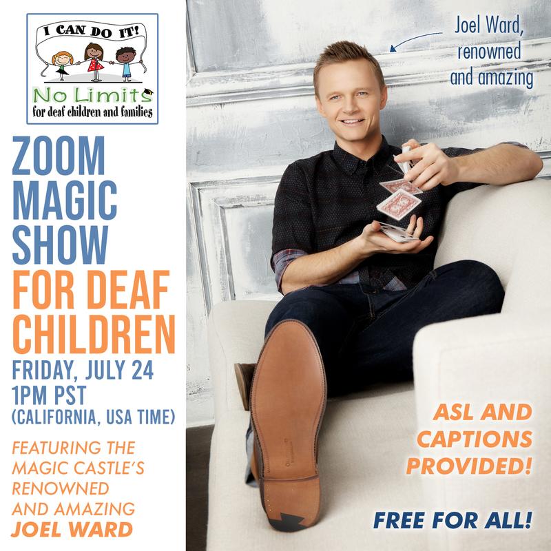 No Limits Magic Show for deaf children!