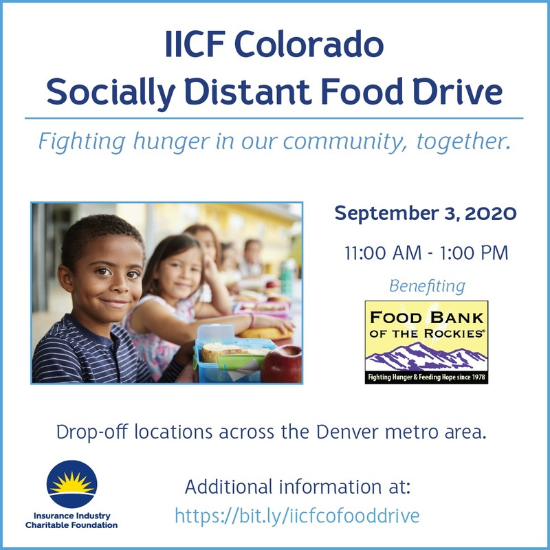 IICF Colorado Socially Distant Food Drive