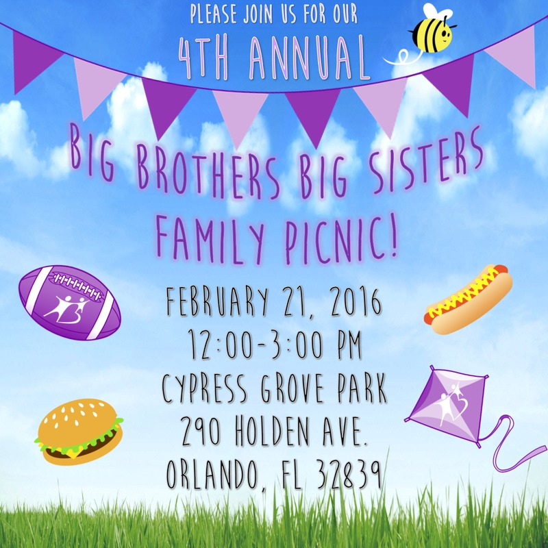 Big Brothers Big Sisters Family Picnic 2016