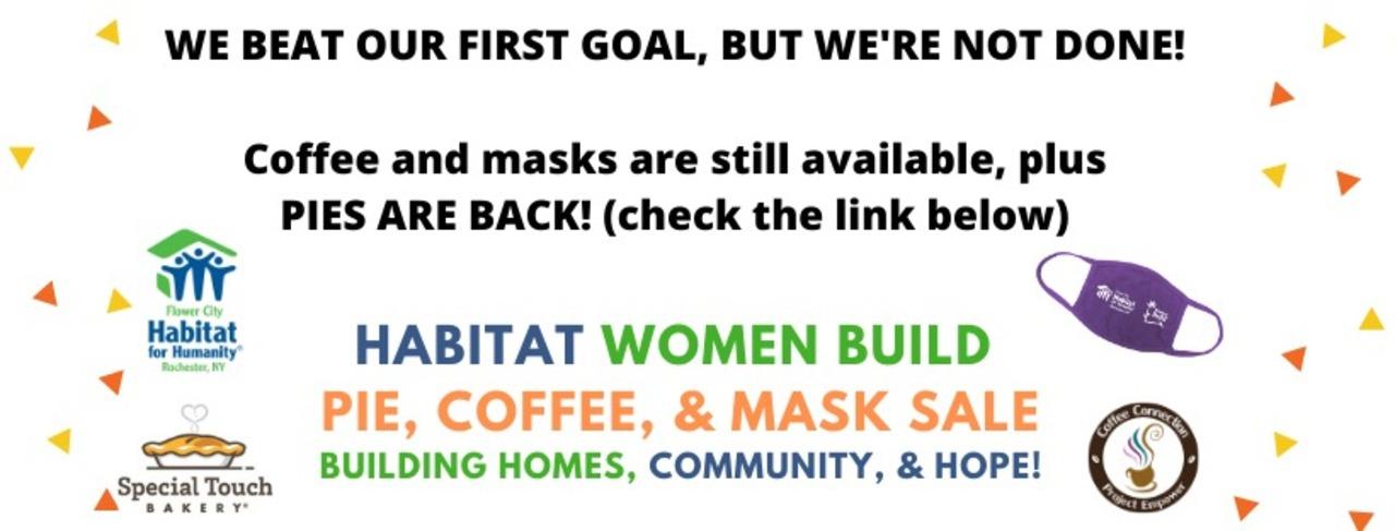 Women Build Mask & Coffee Sale