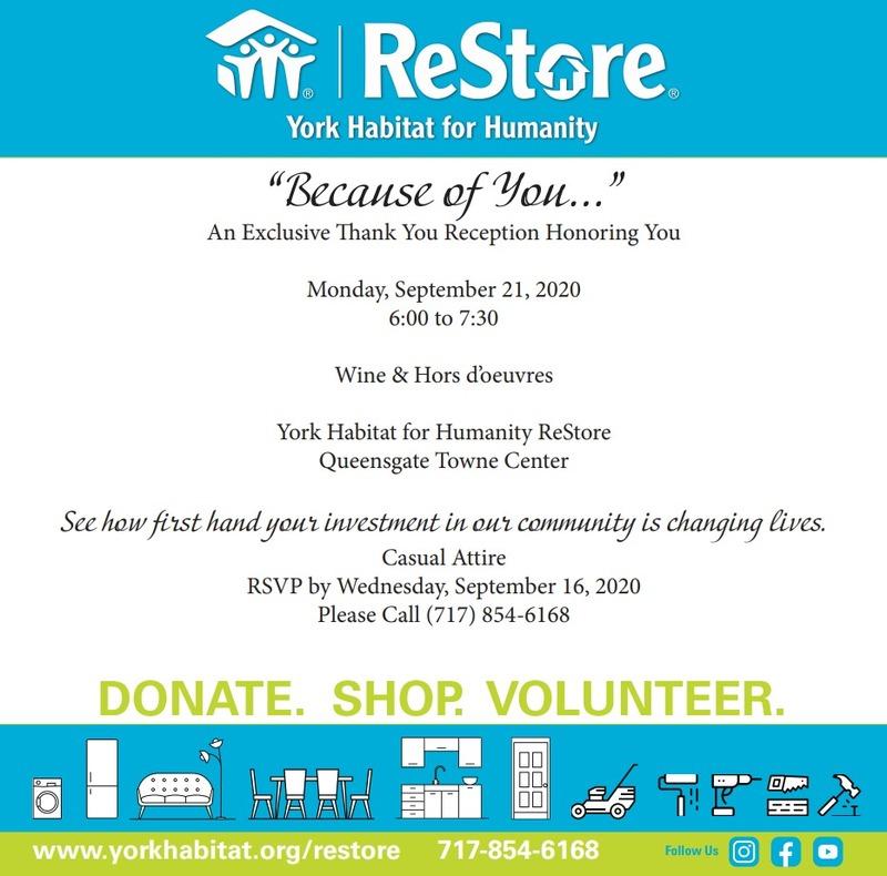 ReStore Donor Appreciation Celebration