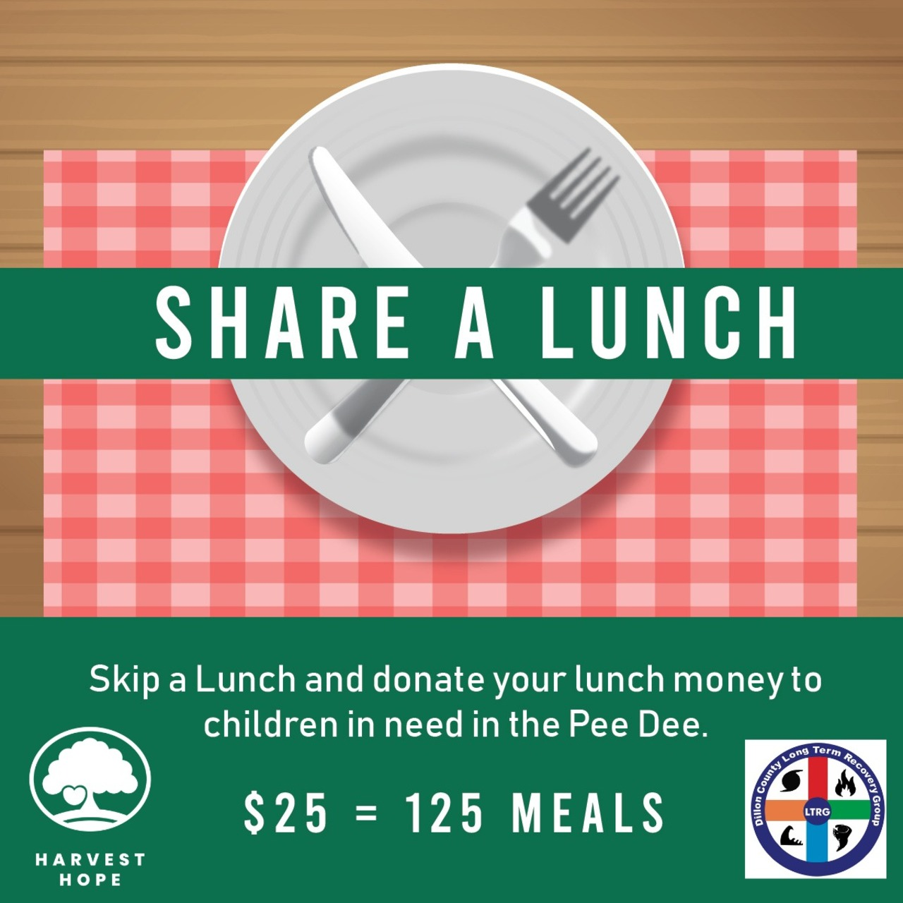 Dillon County LTRG's Share a Lunch Fundraiser for Harvest Hope Food Bank