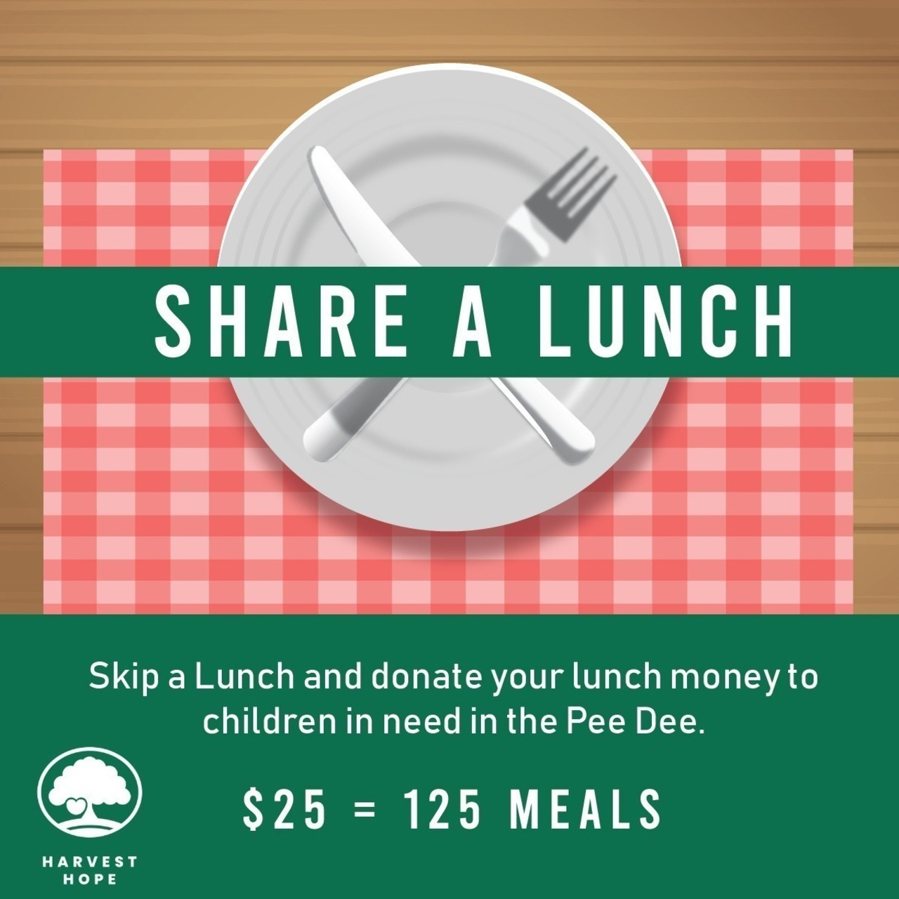 Jessica Morris' Share a Lunch Fundraiser for Harvest Hope