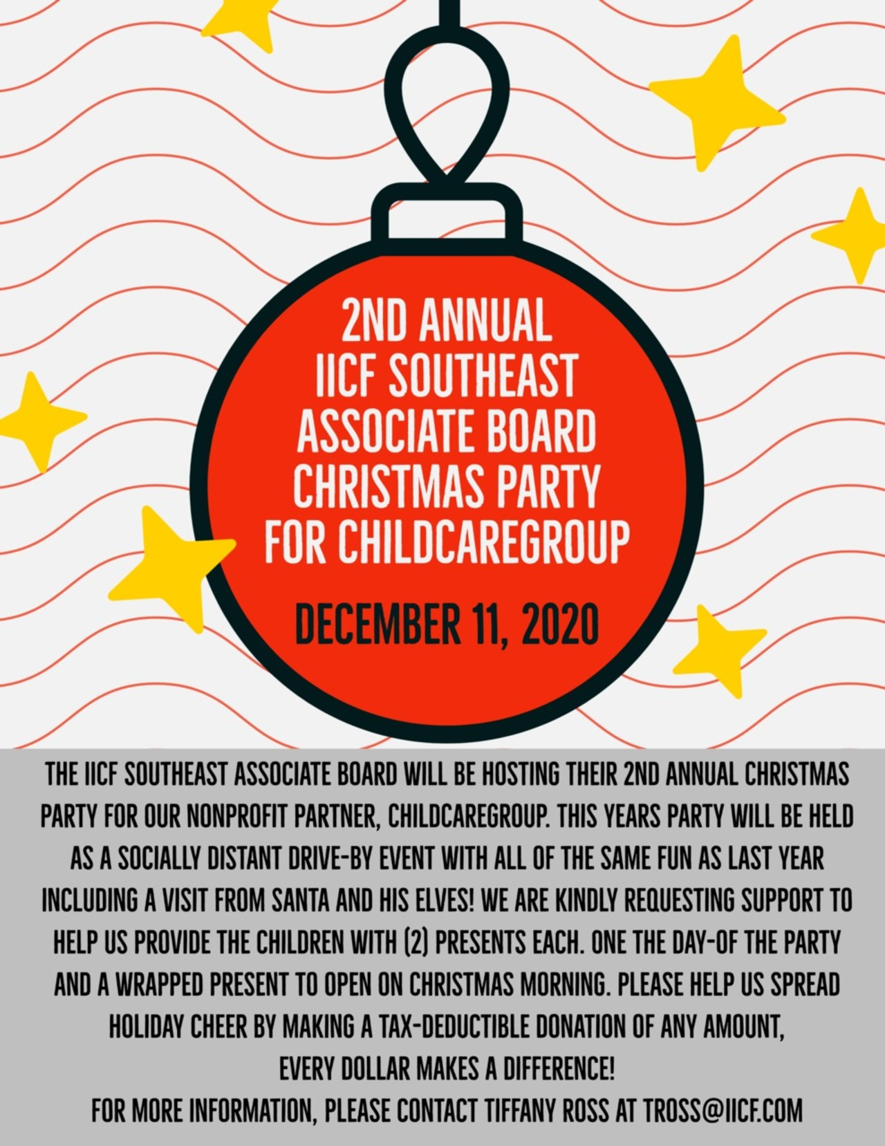2nd Annual IICF Southeast Associate Board Christmas Party for ChildCareGroup