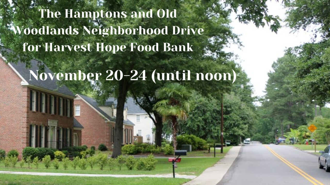 The Hamptons & Old Woodlands Neighborhood Supports Harvest Hope Food Bank