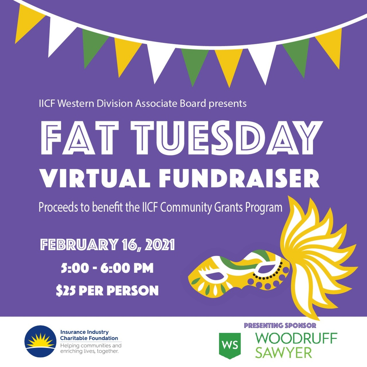 IICF Fat Tuesday Virtual Fundraiser