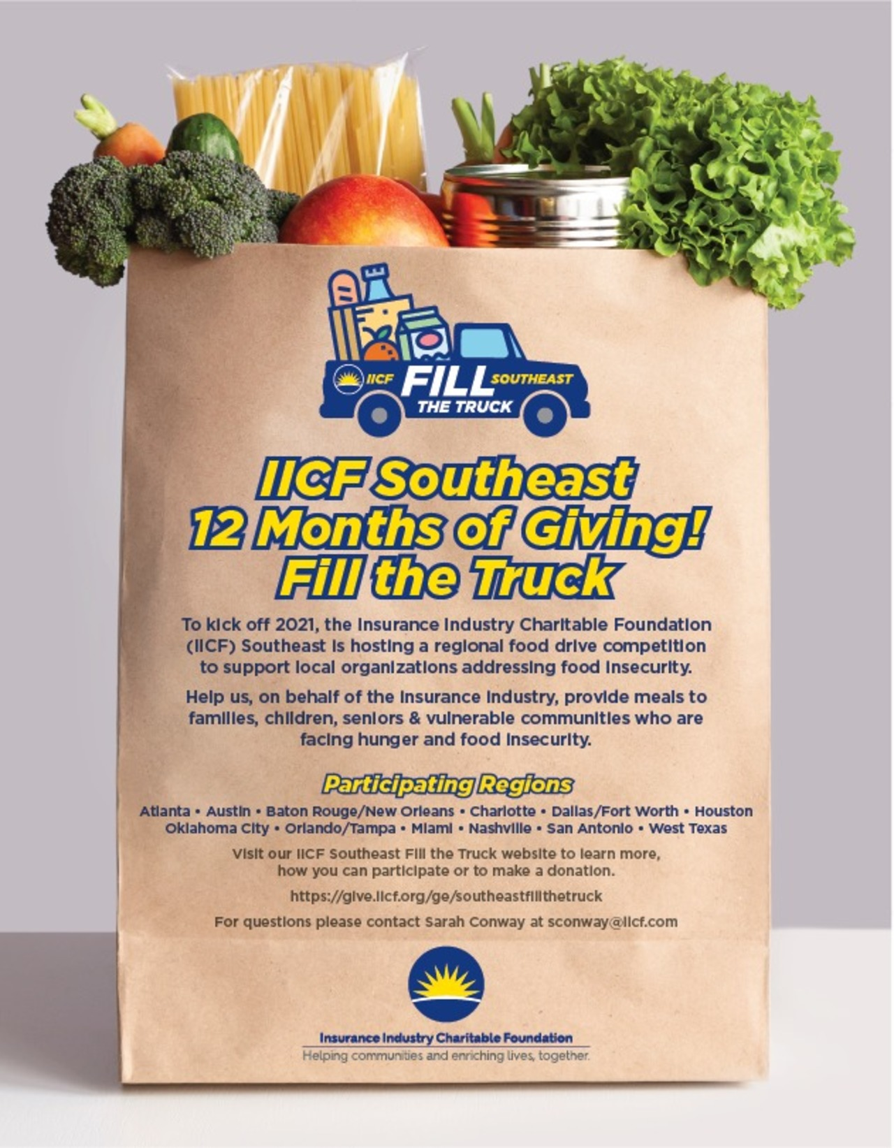 IICF Southeast 12 Months of Giving Fill the Truck Campaign