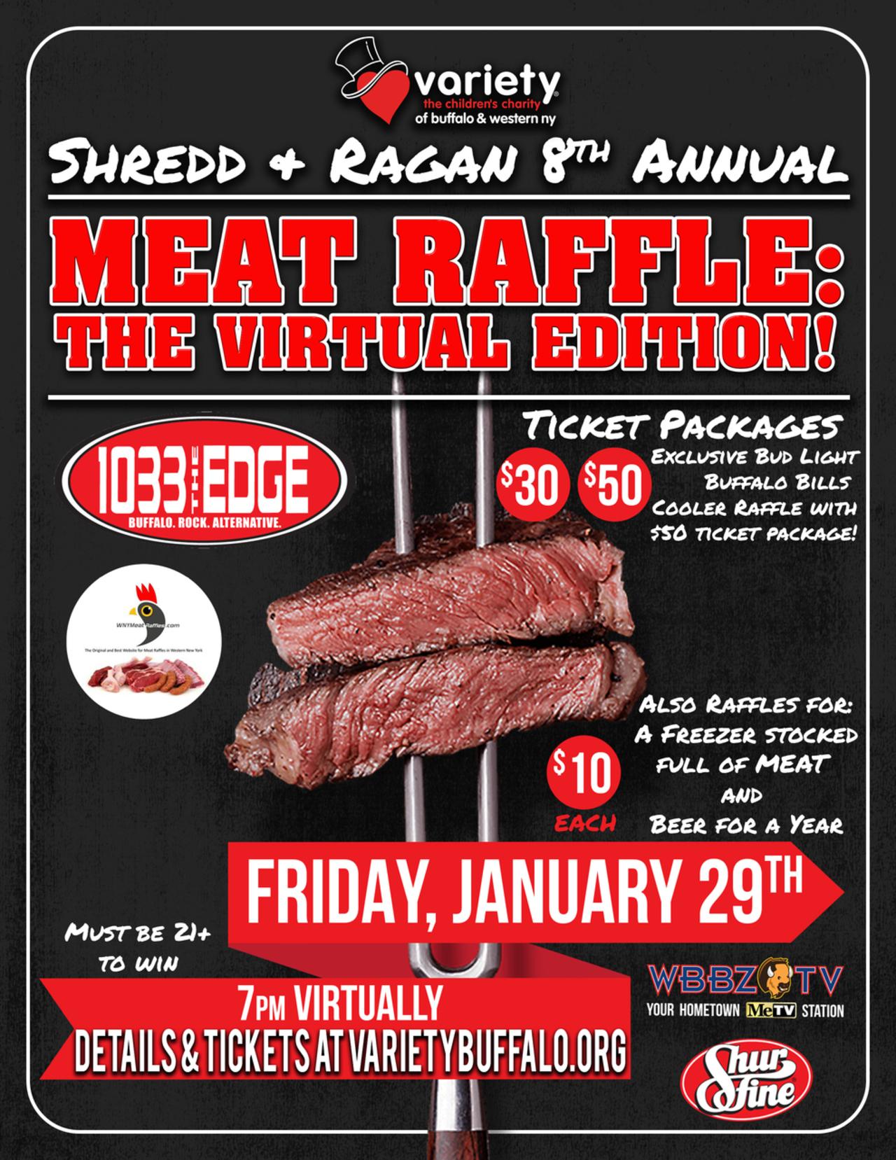 Shredd & Ragan's 8th Annual Meat Raffle: The Virtual Edition