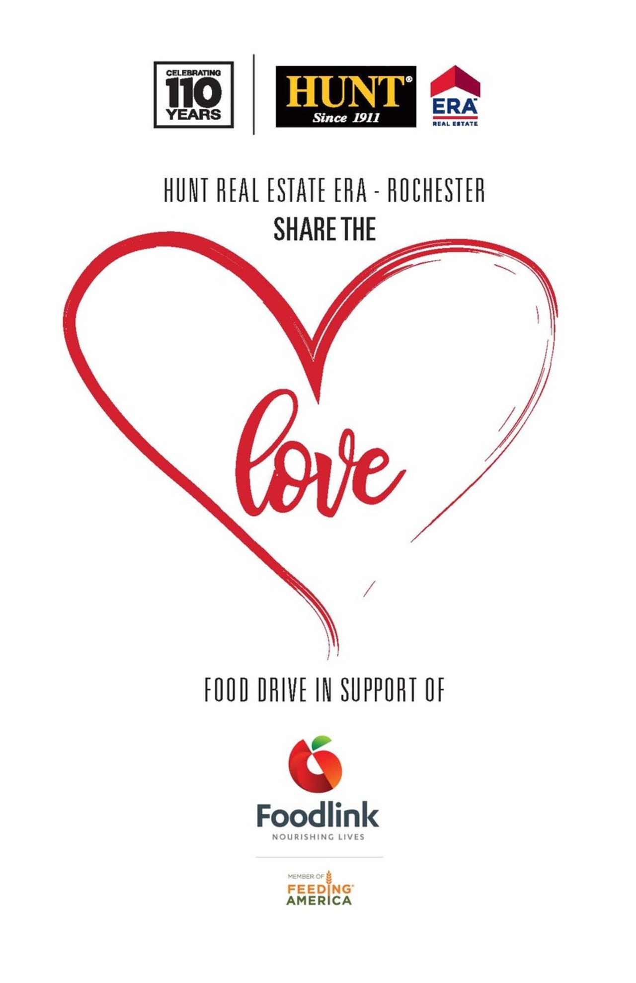 SHARE THE LOVE with Hunt Real Estate ERA - Rochester