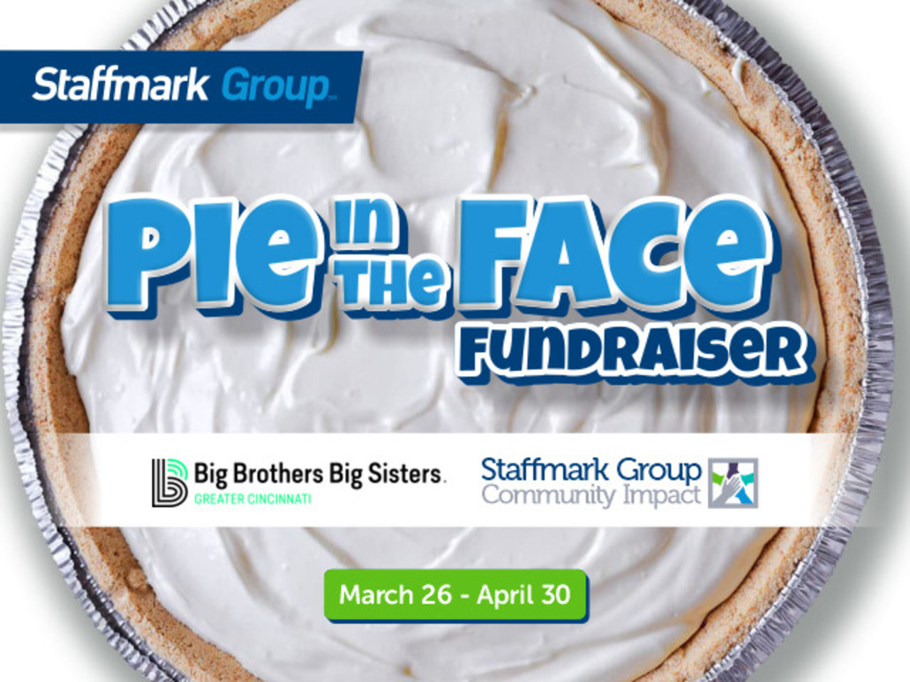Staffmark Group's Team is Taking a Pie in the Face to Help Kids
