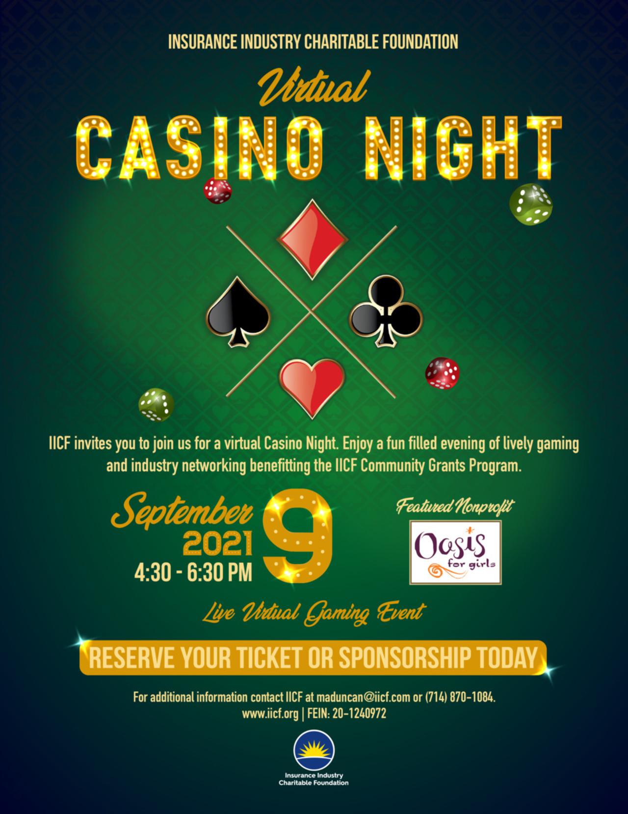 IICF Virtual Casino Night
