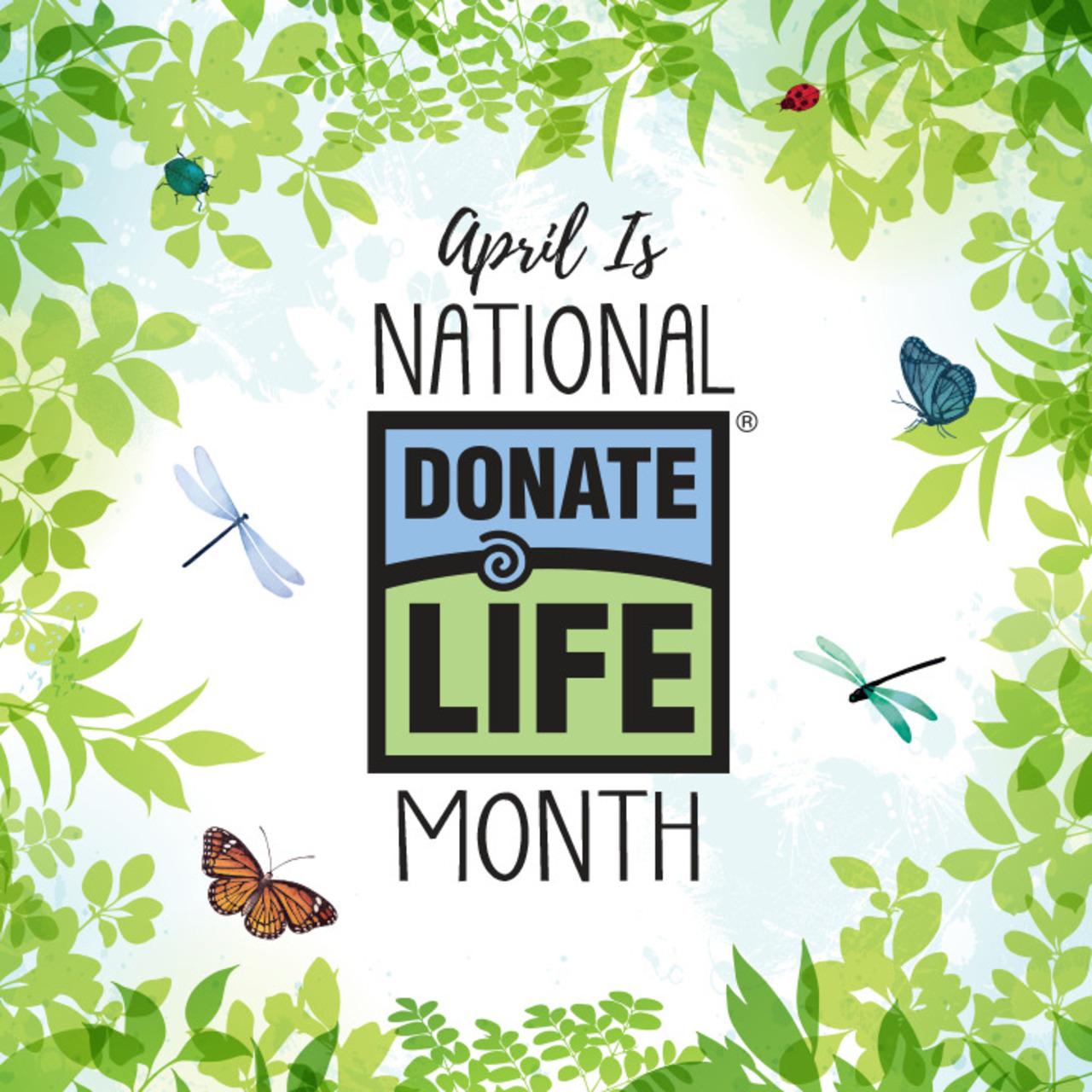 Donate Life Chalk - Blue & Green Spirit Week 2021