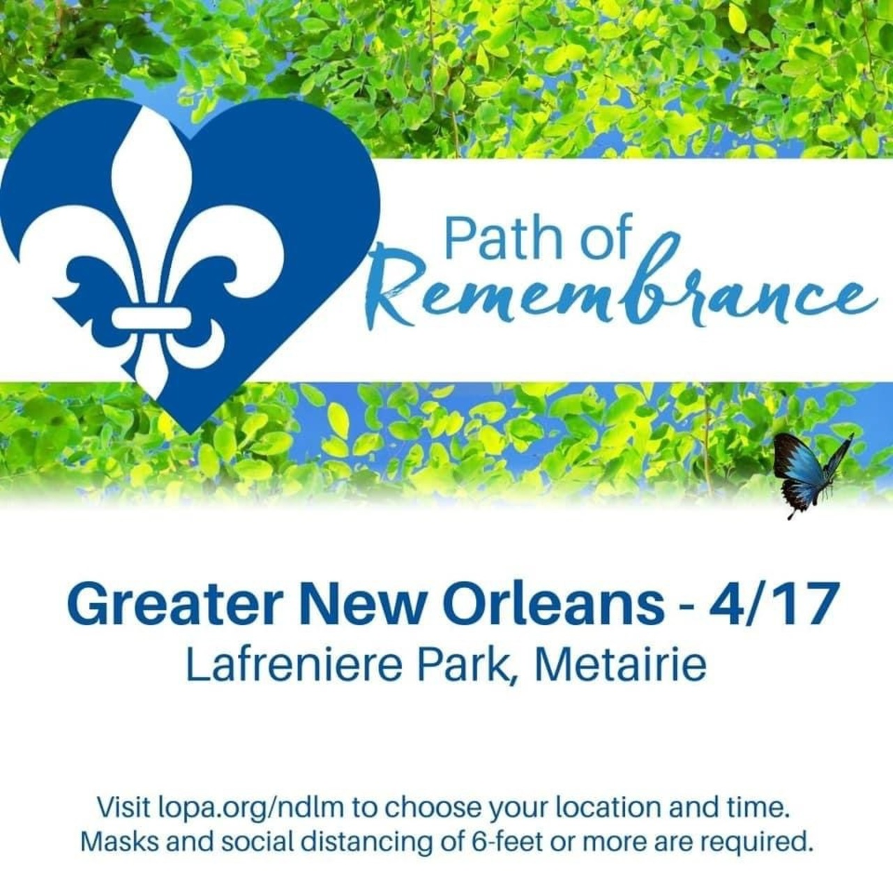 New Orleans area Path of Remembrance 2021
