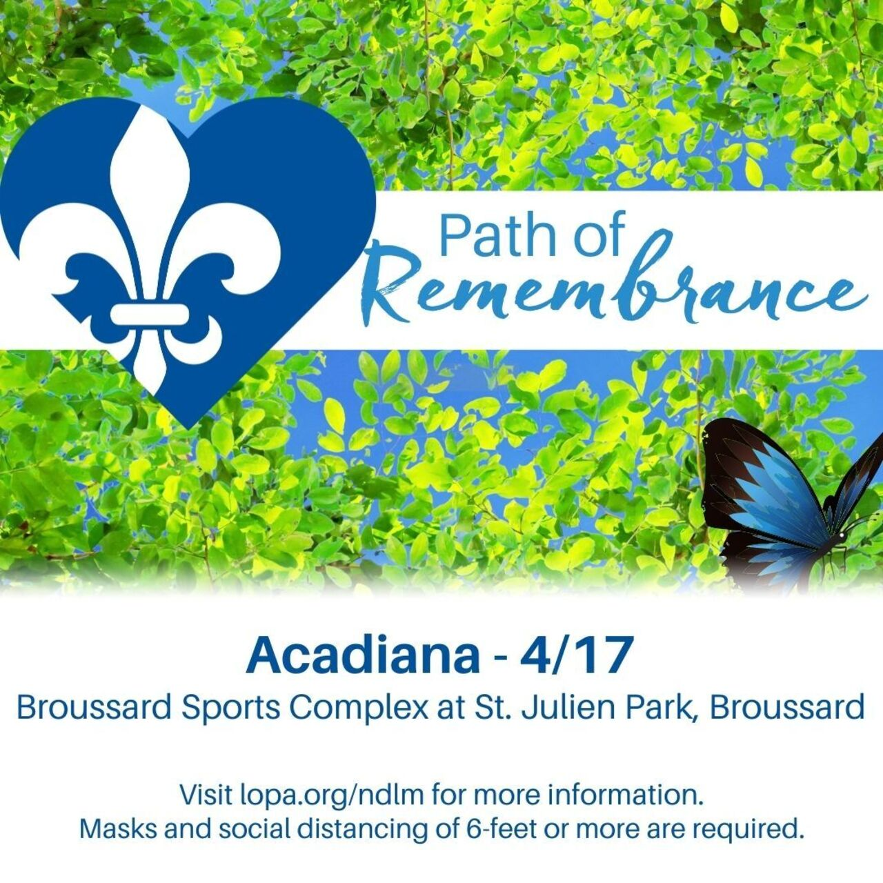 Acadiana area Path of Remembrance 2021