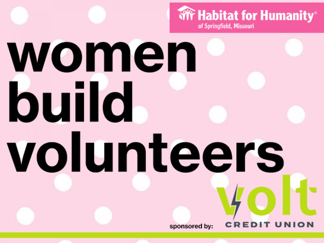 Women Build Volunteering 2021