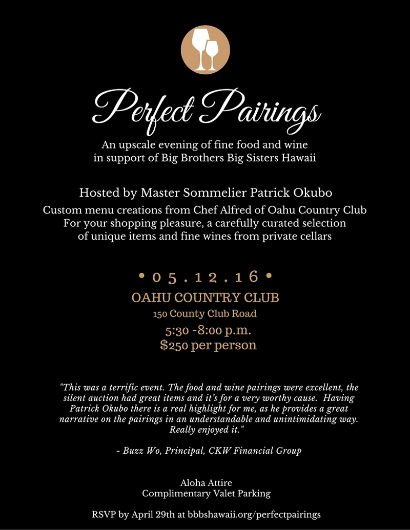 Event - Oahu Perfect Pairings 2016