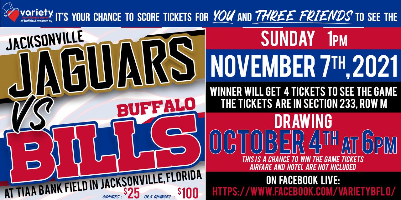 Buffalo Bills VS. Jacksonville Jaguars Raffle!