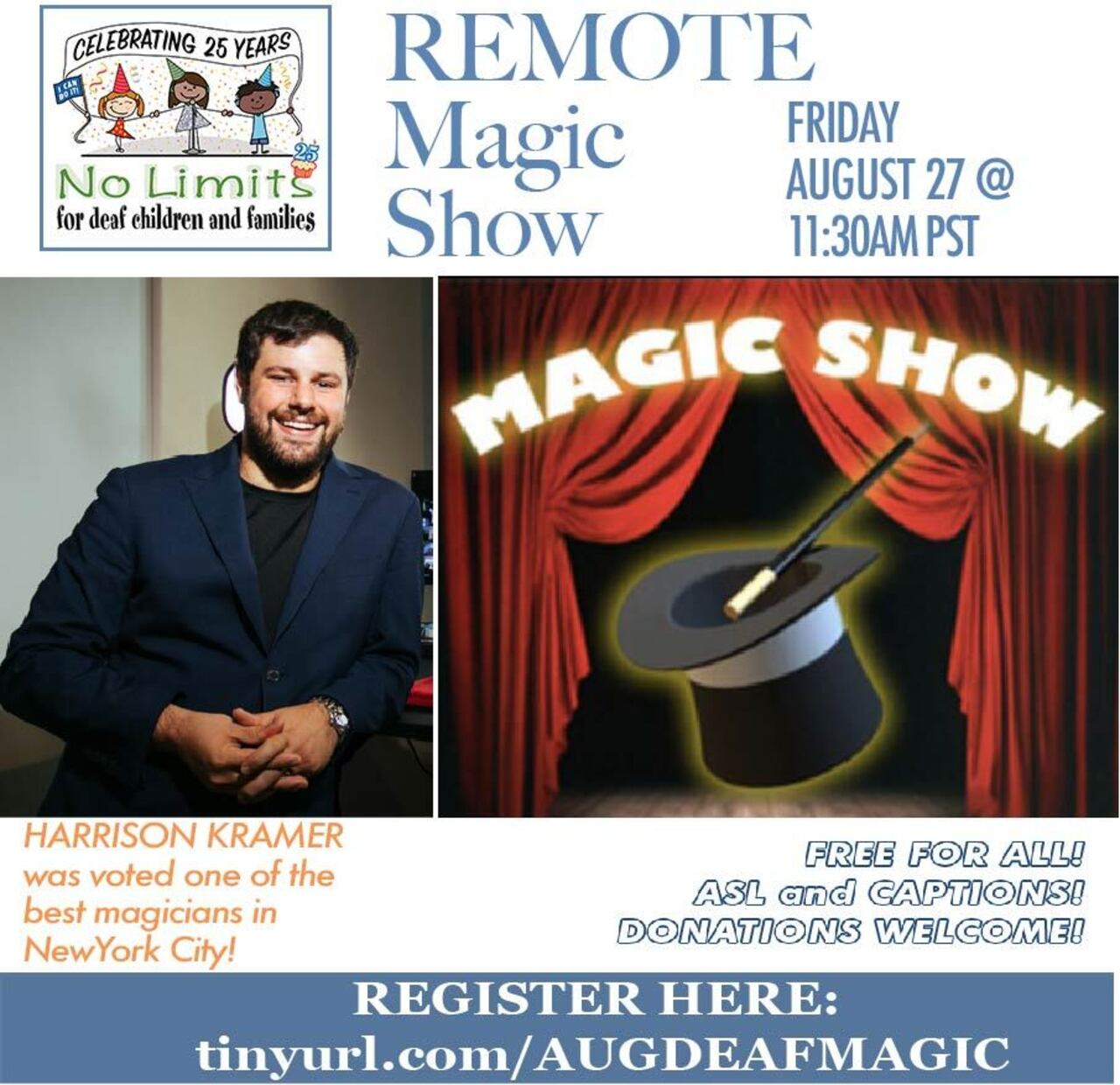 No Limits Magic Show for deaf children-August 27