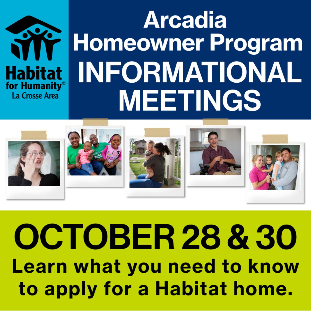 Arcadia Homeowner Program Informational Meeting