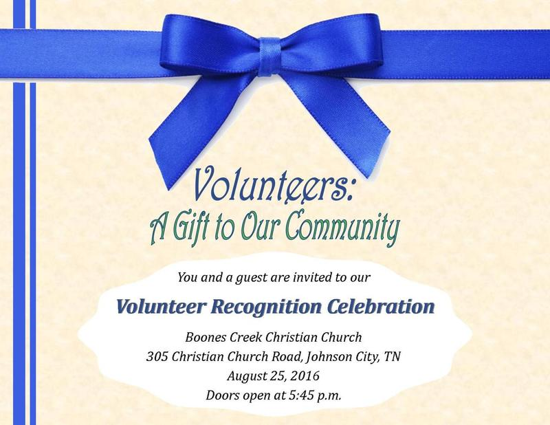 Volunteer Recognition Celebration