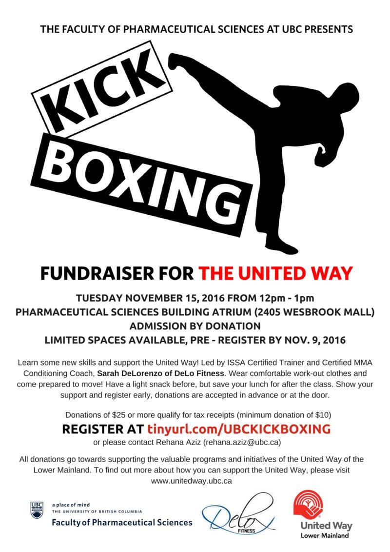 UBC United Way Kickboxing with Sarah DeLorenzo