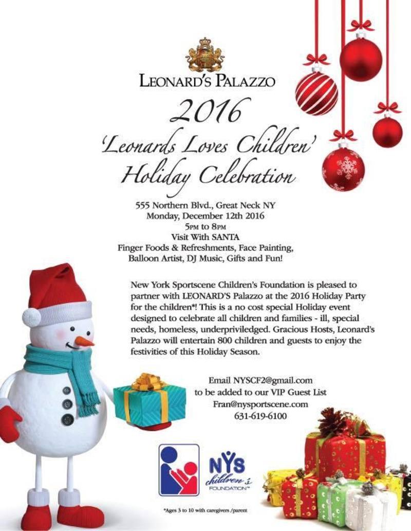 'Leonards Loves Children' Holiday Celebration Tickets