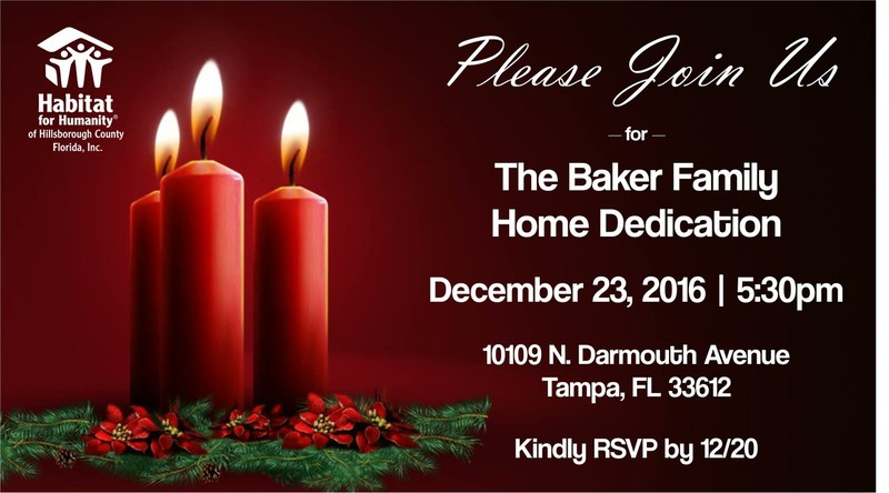 Baker Family Home Dedication