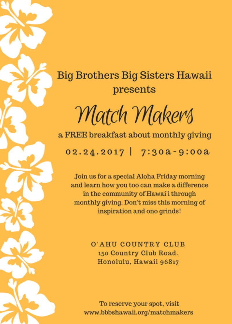 Event - Oahu Match Makers Breakfast 2017