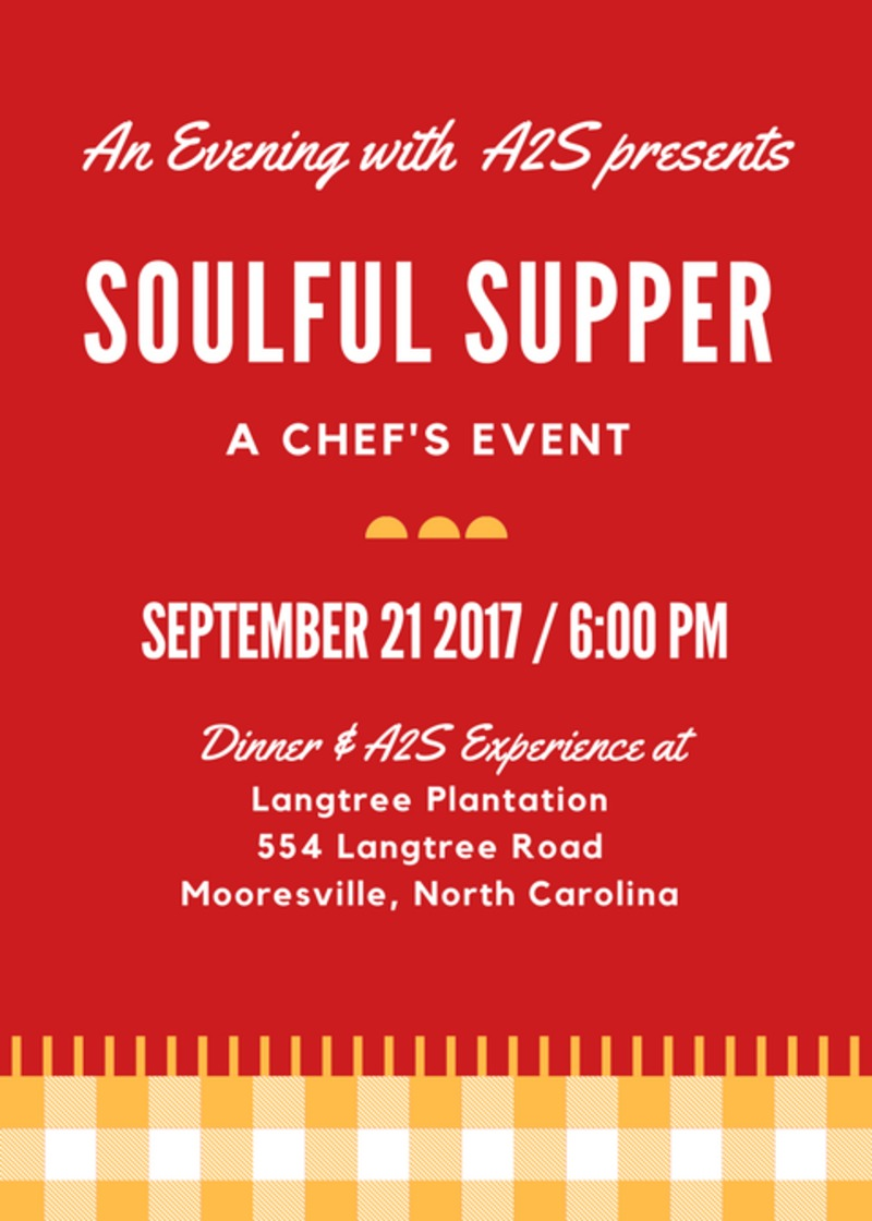An Evening with A2S 2017: Soulful Supper