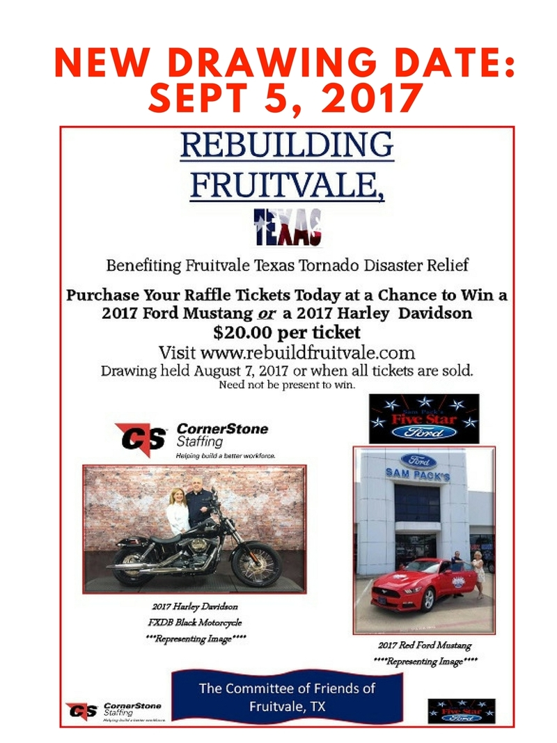 Rebuild Fruitvale, TX - Disaster Relief 2017