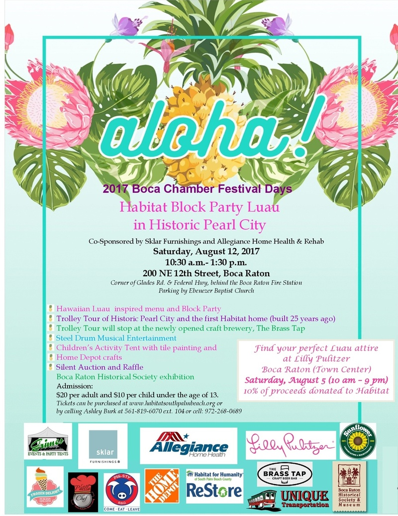 Habitat for Humanity SPBC Block Party Luau in Historic Pearl City