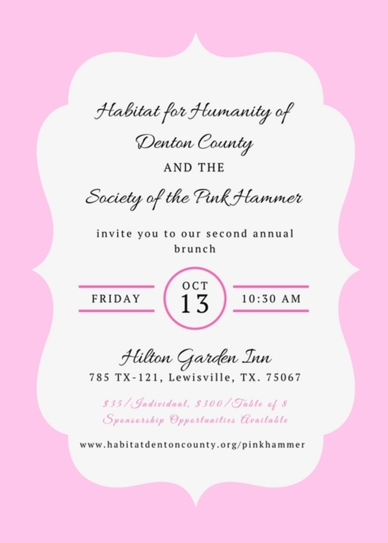 Society of the Pink Hammer Brunch 2017