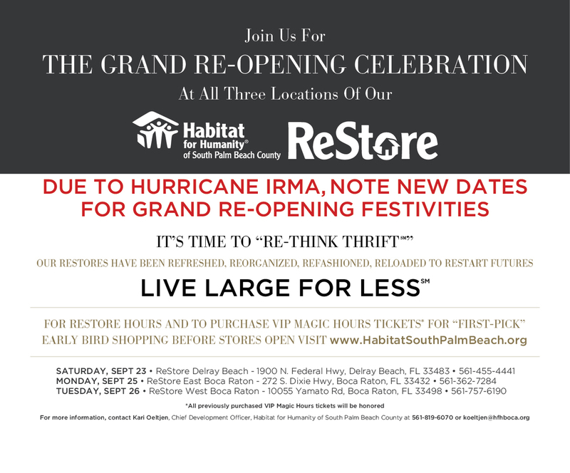 The ReStore Grand Re-Opening Celebration