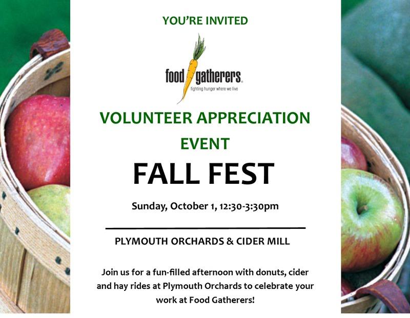 Volunteer Appreciation Event: Fall Fest!